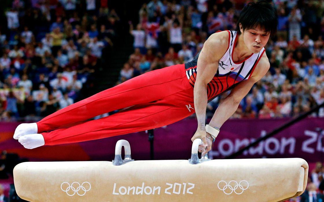 Japan Japanese gymnast athletes gymnastics Olympics 2012 Kohei Uchimura wallpaper