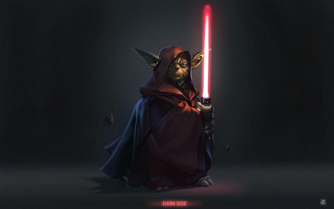 Star Wars Movies Lightsabers Dark Side Yoda Hollywood Photomanipulation Wallpaper 1920x1200 57113 Wallpaperup