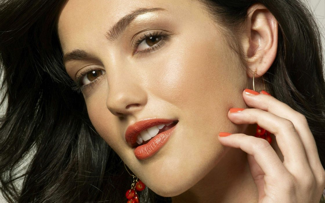 women actress models Minka Kelly faces wallpaper
