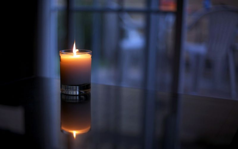 night indoors fire candles wallpaper