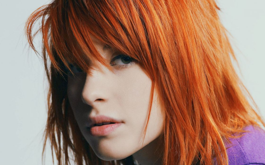 Hayley Williams Paramore women redheads celebrity singers faces wallpaper