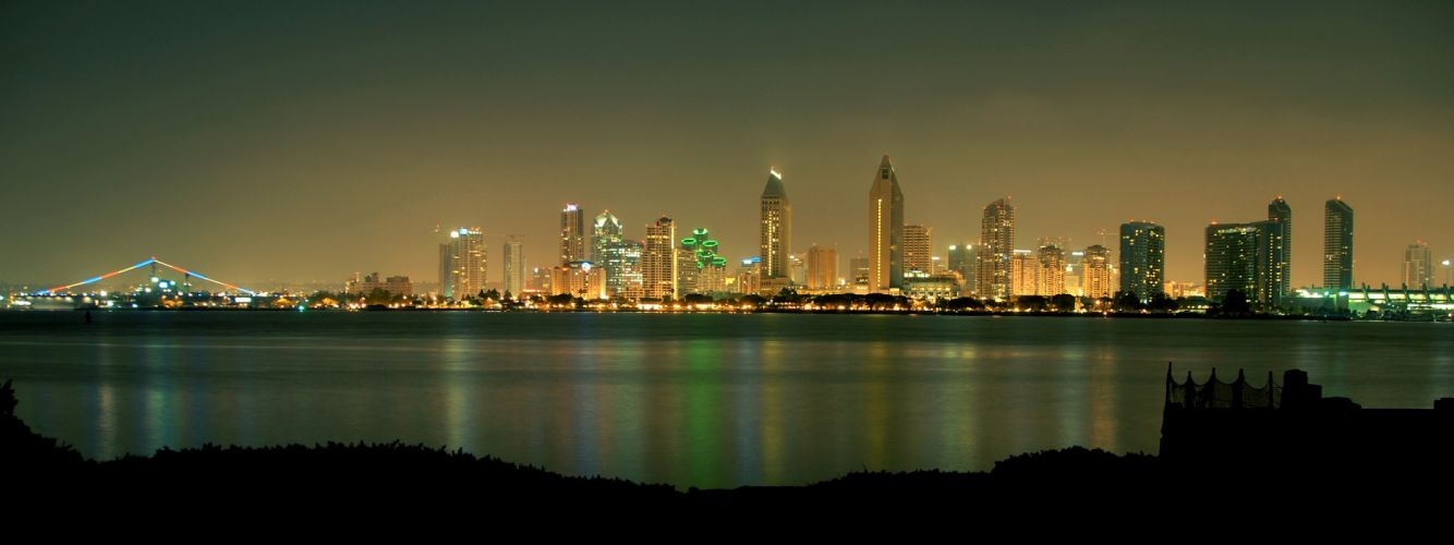 cityscapes skylines San Diego wallpaper
