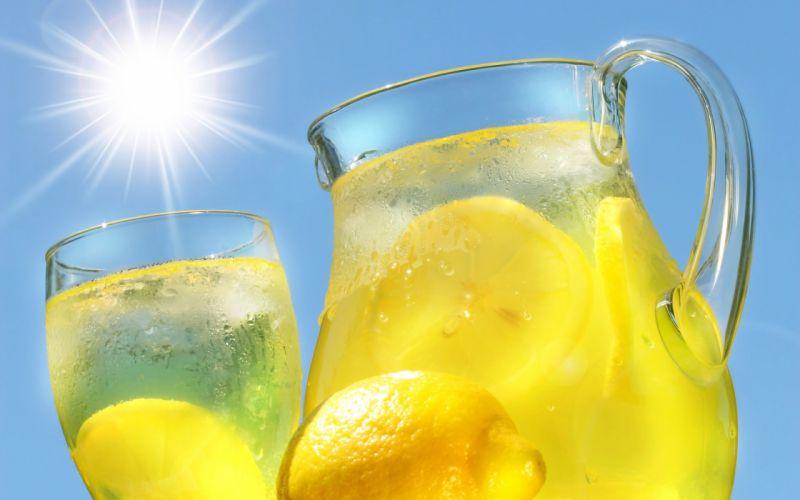drinks lemons wallpaper