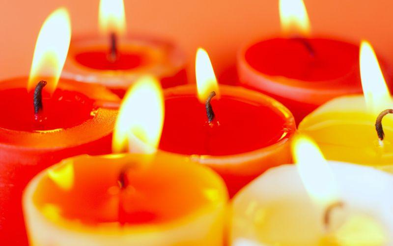 macro candles wallpaper