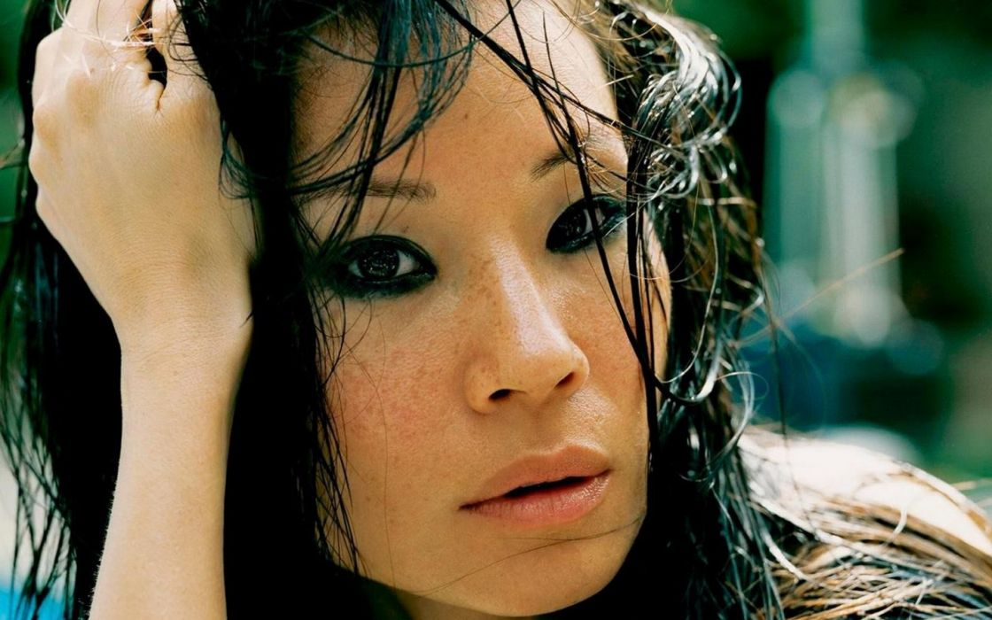 women close-up actress Lucy Liu Asians wallpaper