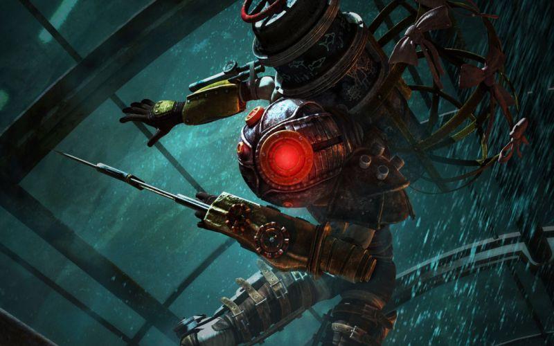 video games BioShock big sister wallpaper