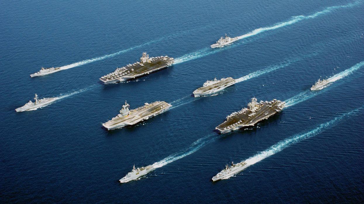 water ocean ships wallpaper