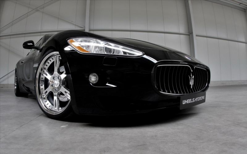cars Maserati vehicles black cars wallpaper