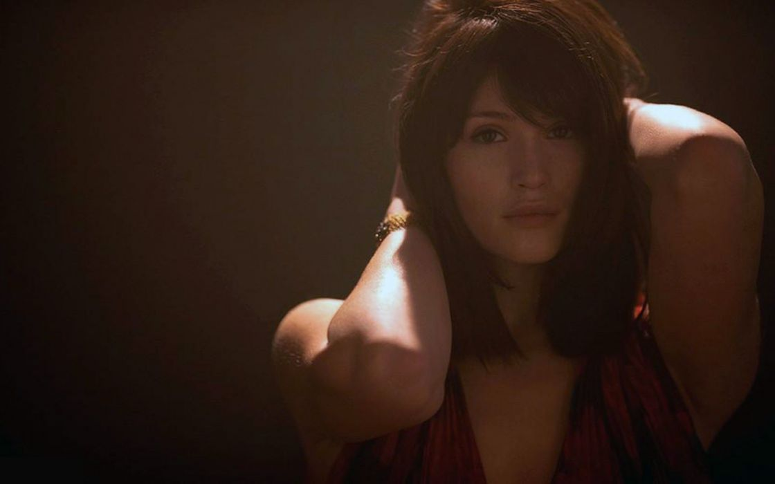 brunettes women models Gemma Arterton wallpaper