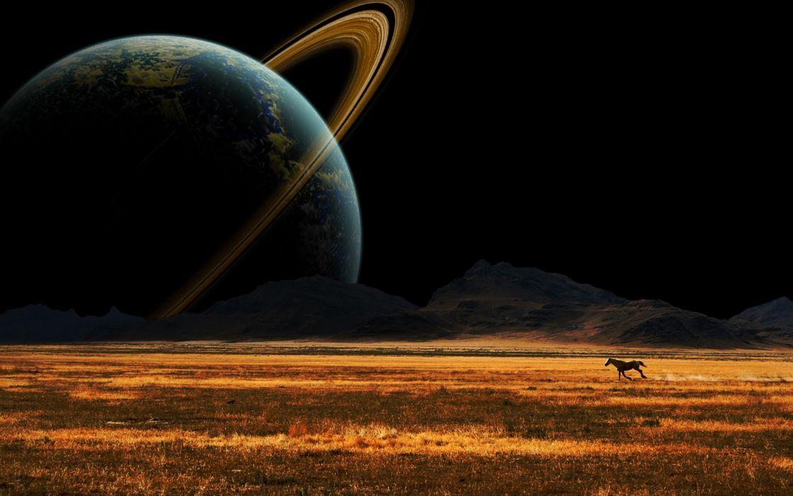 science fiction space art wallpaper