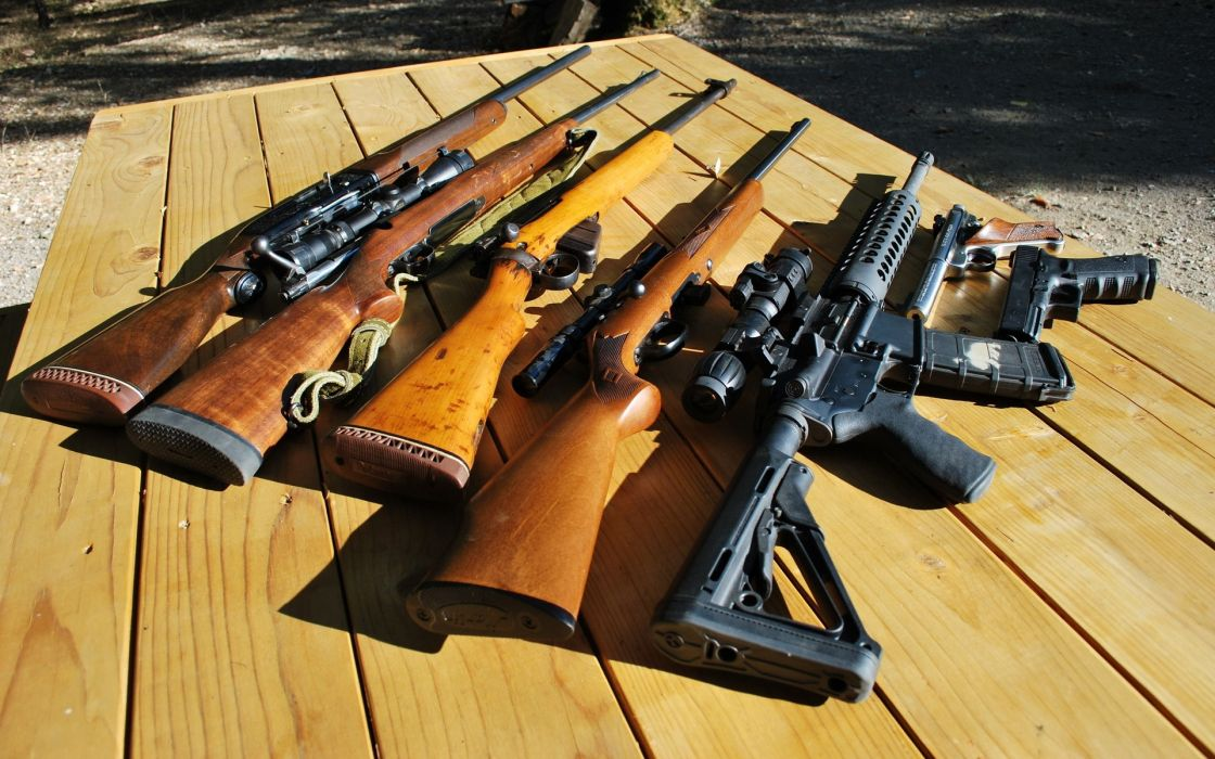 rifles guns military weapons glock AR-15 lee enfield SMLE Ruger wallpaper