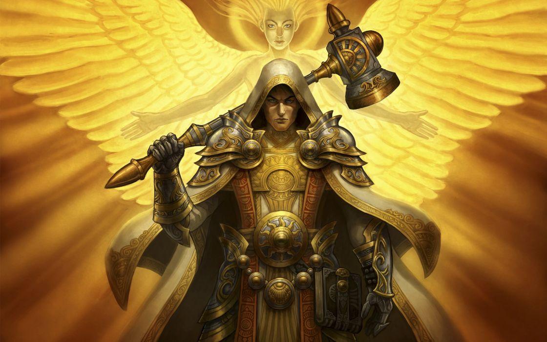 angels wings fantasy art armor paladin artwork wallpaper