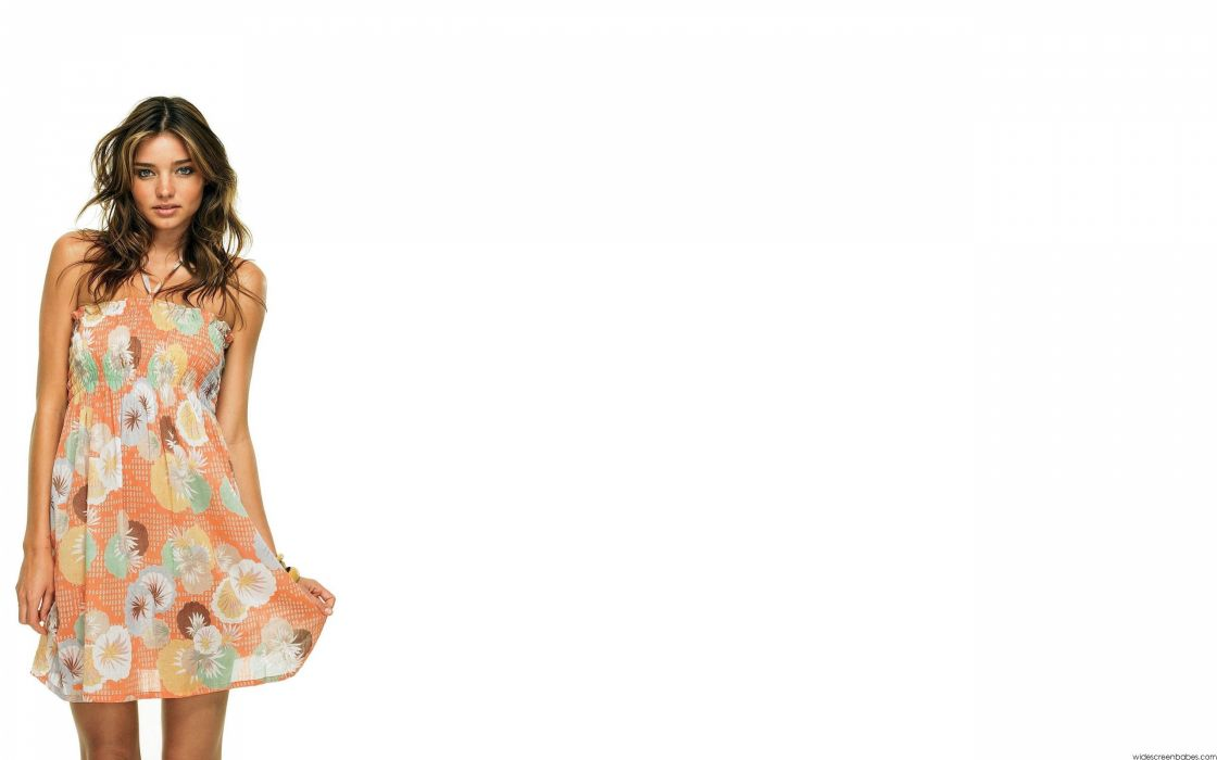 women Miranda Kerr dress models white background wallpaper