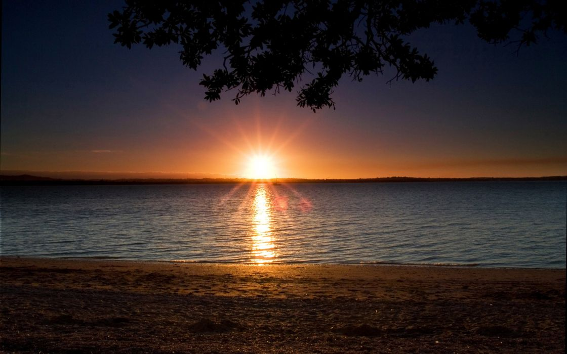 sunset landscapes nature beach wallpaper