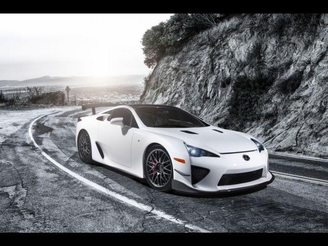 white Lexus LFA static wallpaper