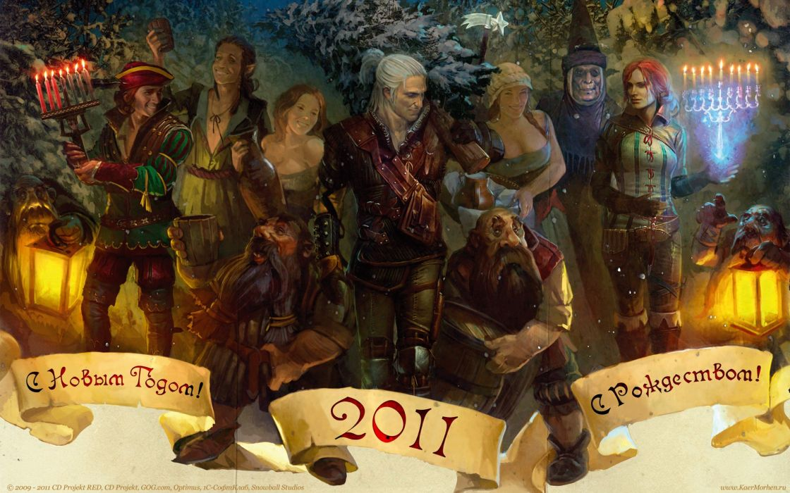 video games The Witcher artwork Geralt of Rivia The Witcher 2 wallpaper