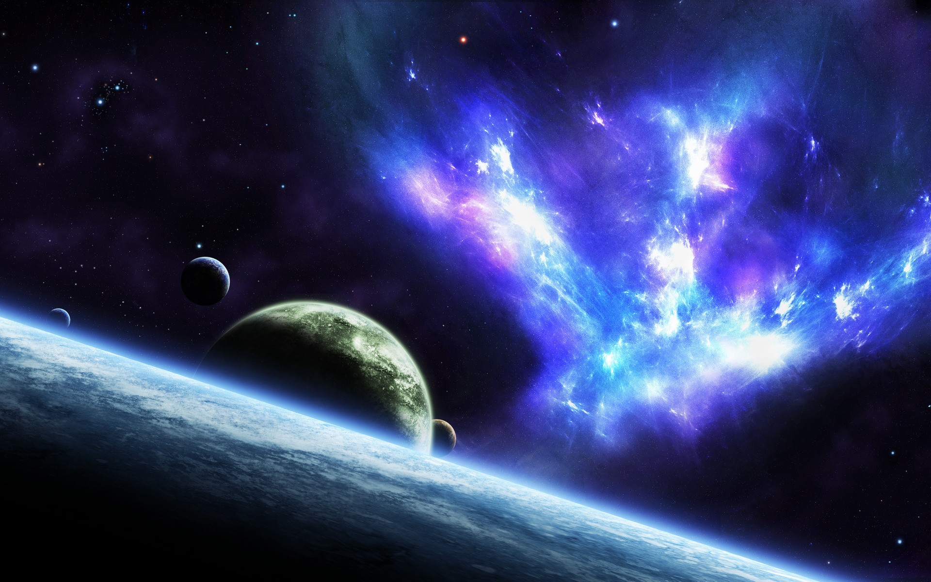 Outer space stars planets nebulae wallpaper | 1920x1200 ...