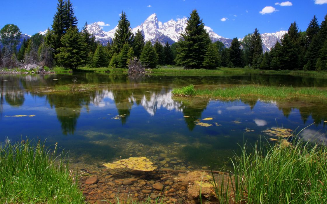 mountains landscapes nature reflections wallpaper