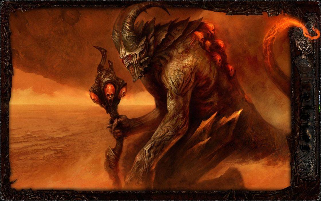 video games horns fantasy art artwork Disciples 3 wallpaper