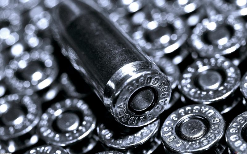 silver ammunition bullets wallpaper