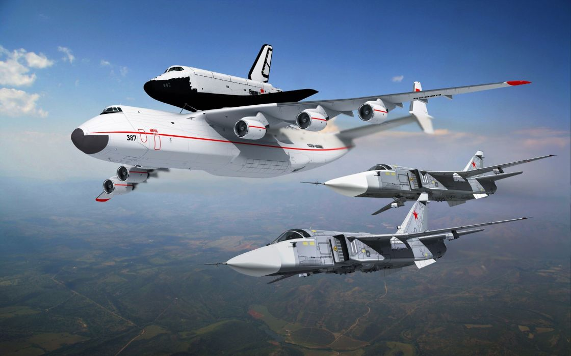airplanes Space Shuttle jet aircraft wallpaper