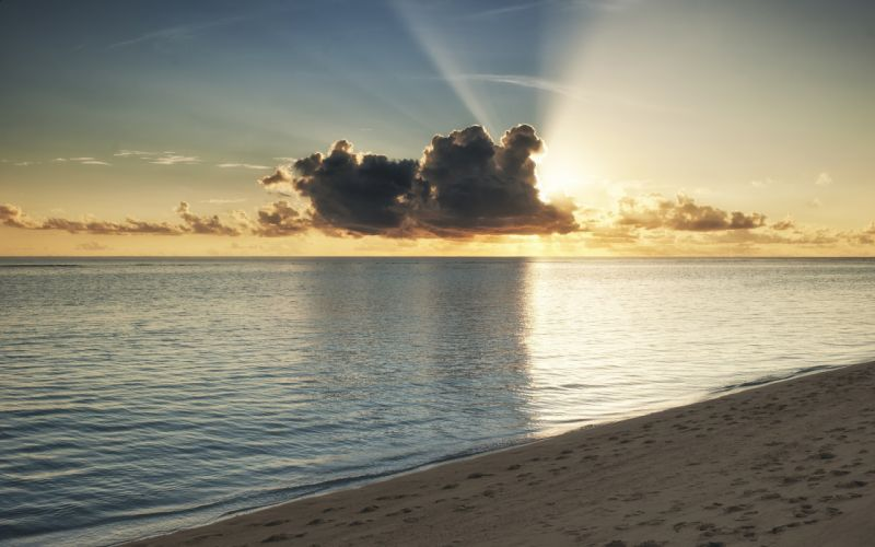 ocean clouds nature Sun beach wallpaper