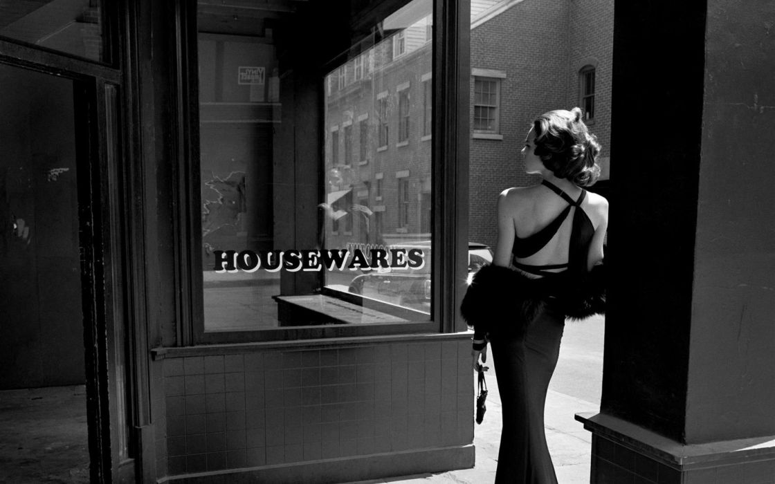 women dress monochrome wallpaper
