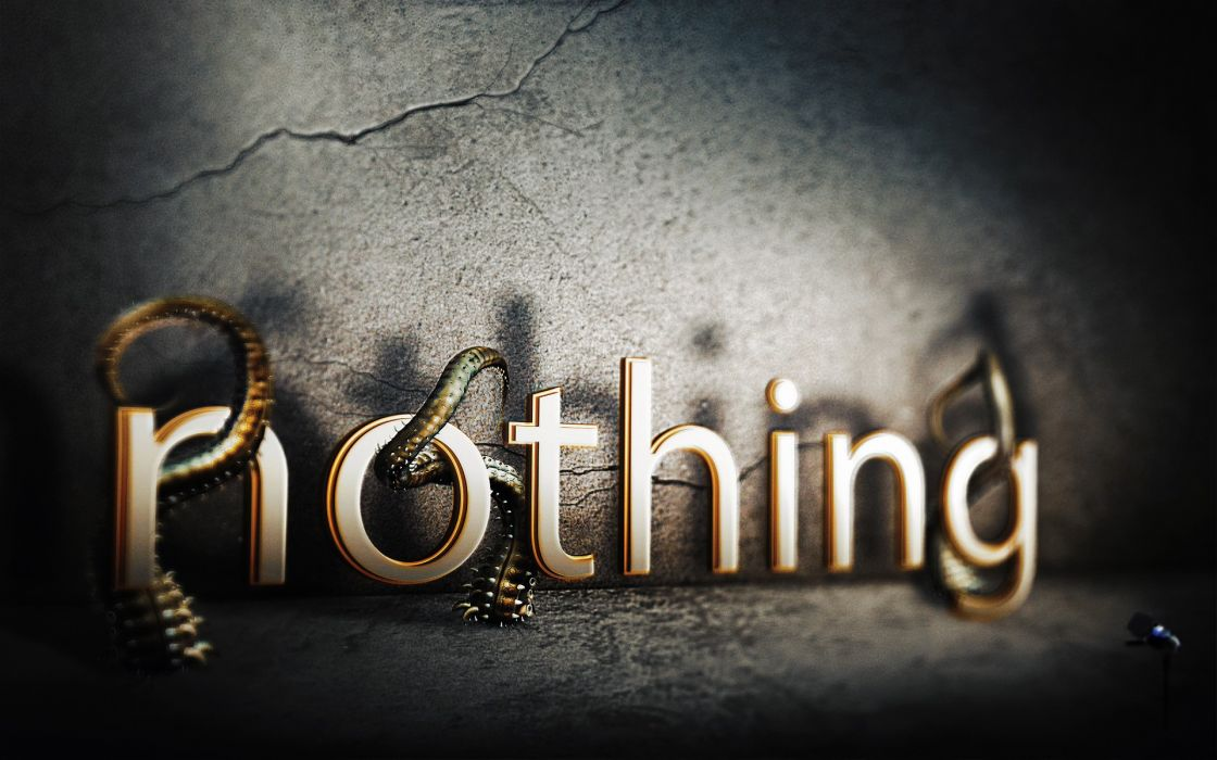 typography photomanipulation Nothing wallpaper