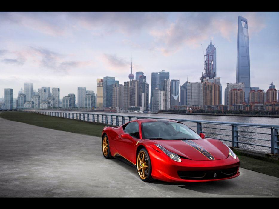 China front Ferrari 458 Italia special wallpaper