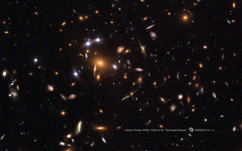 outer space stars galaxies Hubble quasar wallpaper