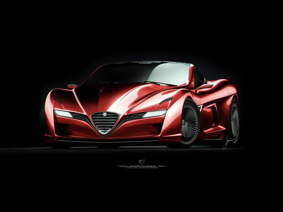 red design Alfa Romeo Alfa Romeo 12C GTS wallpaper