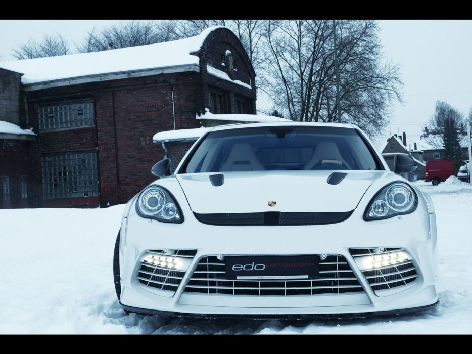 snow Moby Dick turbo Porsche Panamera Edo Competition wallpaper