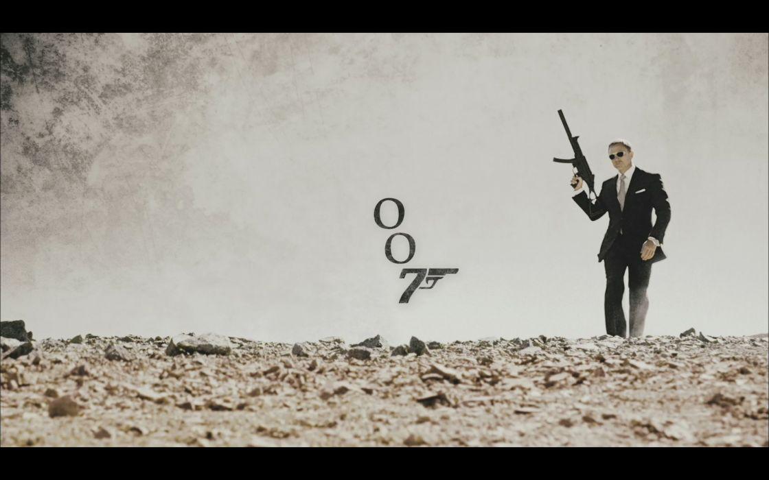 Quantum of Solace men James Bond Daniel Craig wallpaper