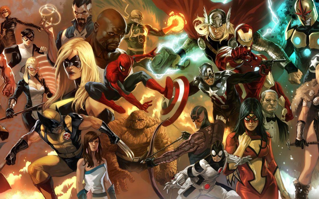 comics artwork Marvel Comics wallpaper