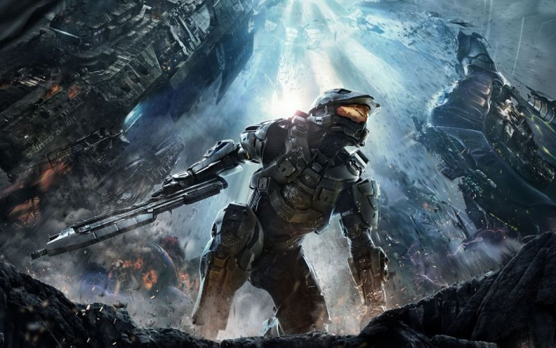 video games guns Master Chief Halo 4 pc games wallpaper