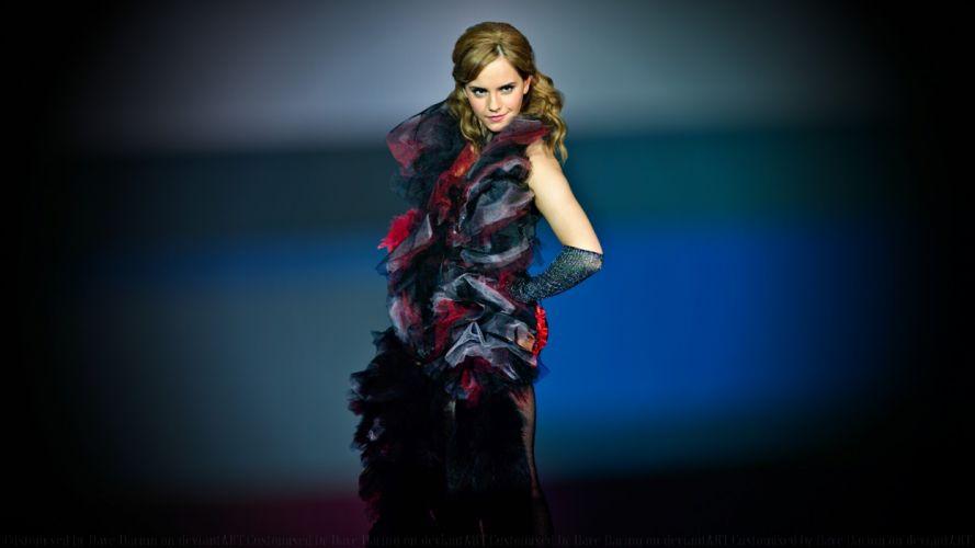 brunettes floor women eyes Emma Watson models faces portraits wallpaper