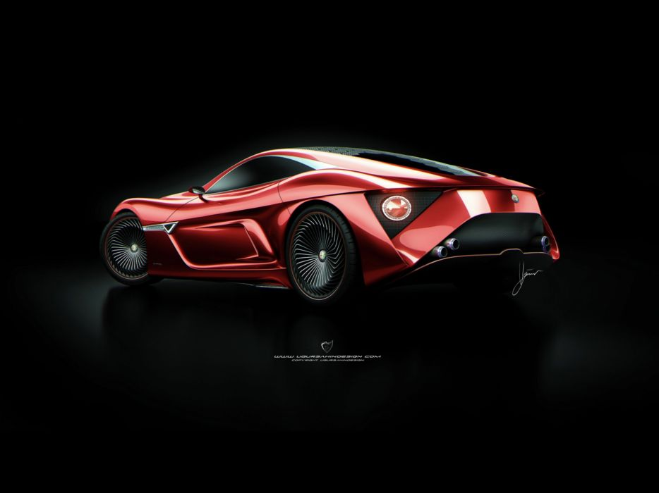 red design Alfa Romeo Alfa Romeo 12C GTS wallpaper