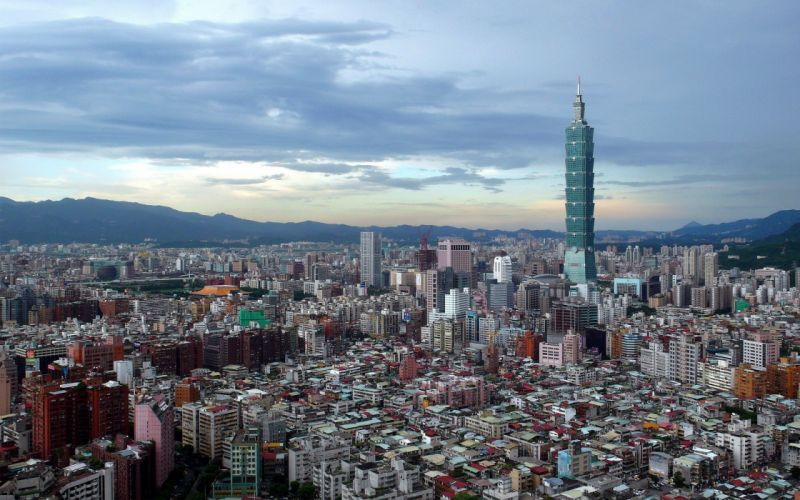 landscapes cityscapes town skyscrapers Taipei city skyline wallpaper