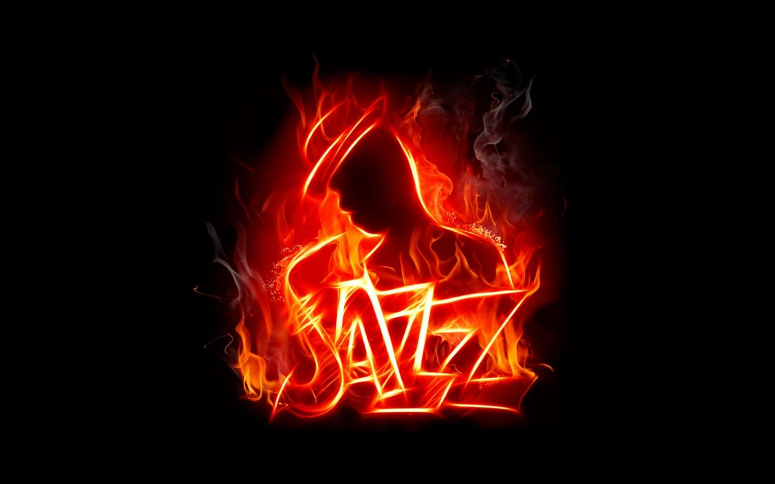abstract music fire jazz flaming black background wallpaper
