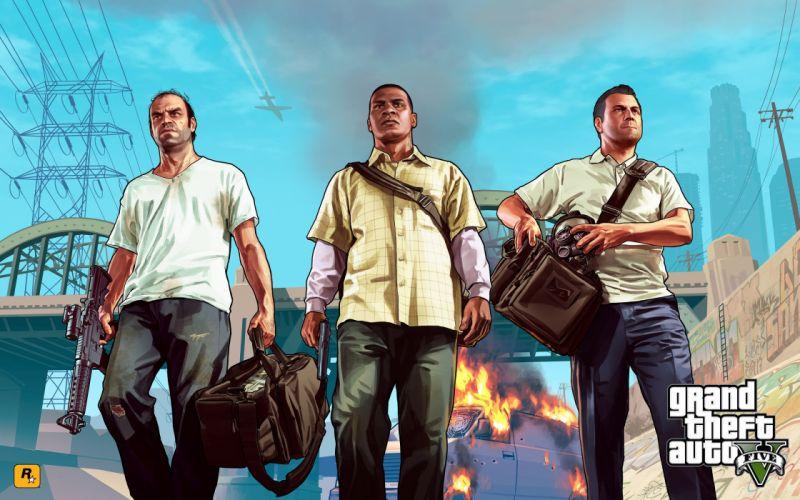 video games GTA V wallpaper