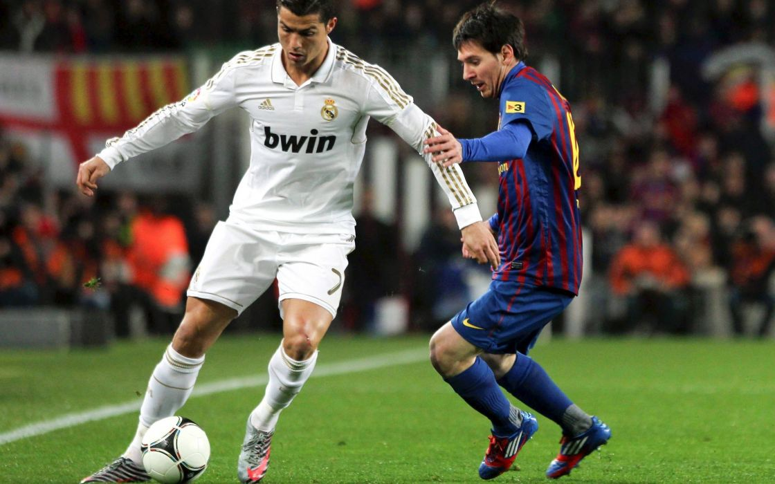 Lionel Messi Cristiano Ronaldo FC Barcelona Real Madrid CF wallpaper