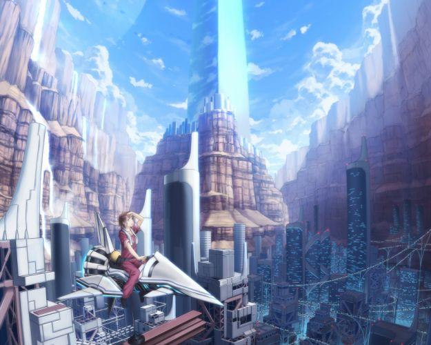 building city eshi landscape original scenic wallpaper