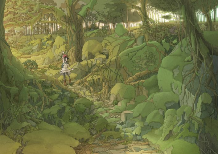 forest ooshima (kenta423) original wallpaper