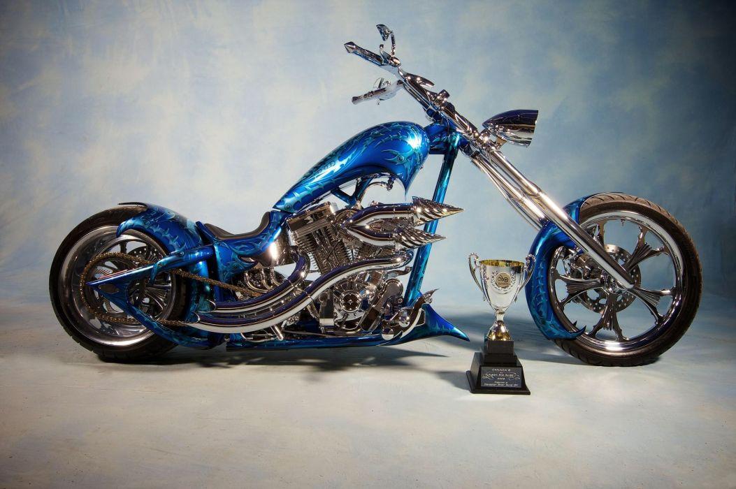 BLUE  BIKE  CHOPPER  airbrushing  DESIGN  TUNING sled custom wallpaper