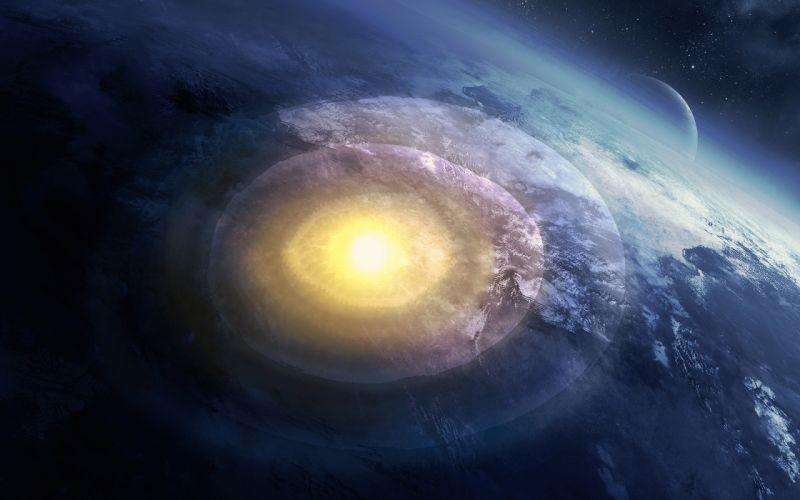 planet explosion cataclysm art stars apocalyptic wallpaper