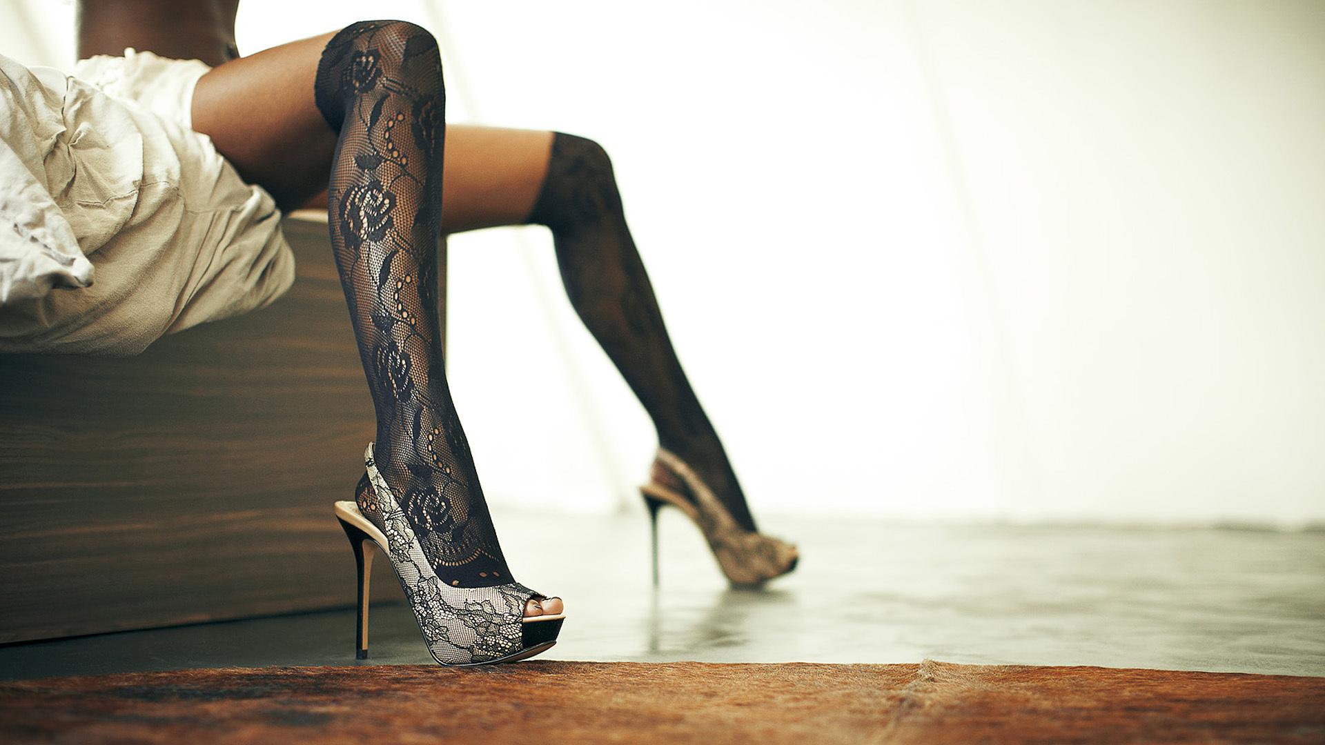 Noga noge Nogavice Čevlji Nogavice Črni modeli Ženske Ženske Seksi Babes Ozadje-9431