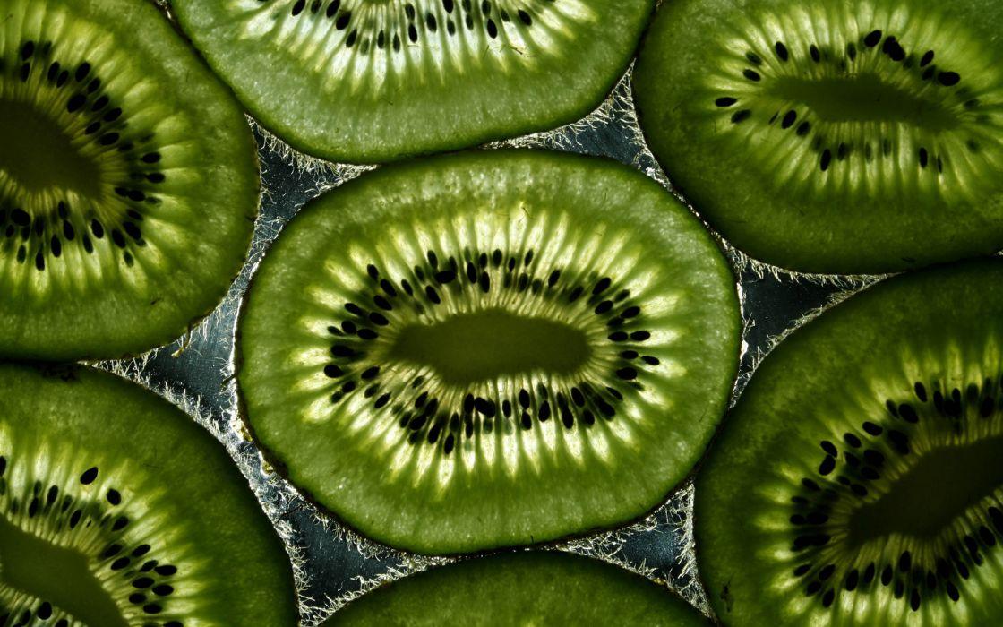 kiwi fruit pattern green light abstract wallpaper