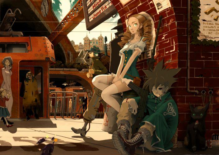 animal boots building cat cigarette city dress gun kimura 3104 lollipop mask original robot thighhighs train weapon wallpaper