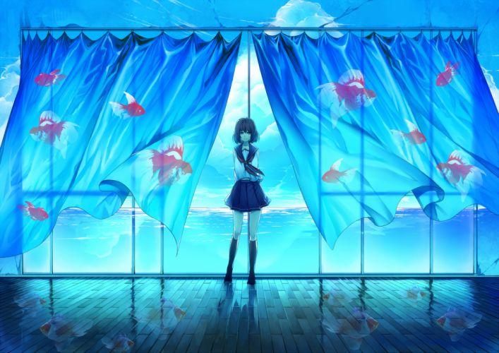 animal fish original rby seifuku wallpaper
