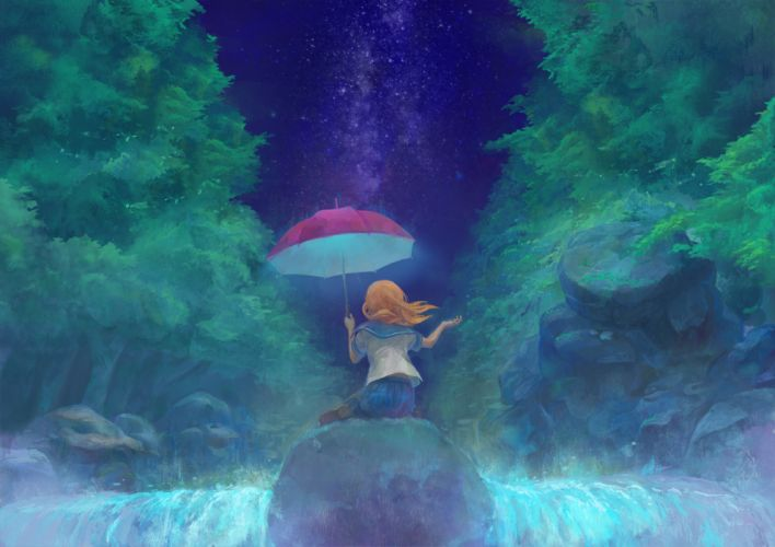 gemi original rain seifuku stars umbrella wallpaper